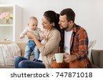 family  parenthood and people... | Shutterstock . vector #747871018
