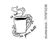 coffee illustration | Shutterstock .eps vector #747873238