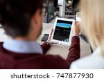 people  technology and... | Shutterstock . vector #747877930