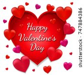 valentine's day card.... | Shutterstock . vector #747884386
