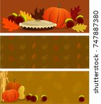 autumn banners with seasonal