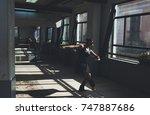 ballet dancer practicing... | Shutterstock . vector #747887686