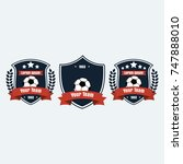 soccer football club logo badge ... | Shutterstock .eps vector #747888010