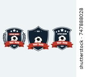 soccer football club logo badge ... | Shutterstock .eps vector #747888028
