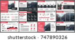 red presentation templates... | Shutterstock .eps vector #747890326