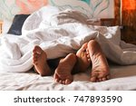 passionate love. feet of a... | Shutterstock . vector #747893590