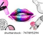 .vector hand drawn illustration ... | Shutterstock .eps vector #747895294