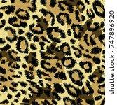 animal skin pattern | Shutterstock .eps vector #747896920