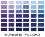 purple and blue color palette... | Shutterstock .eps vector #747898936