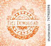 free download orange mosaic...