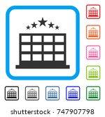 hotel icon. flat grey pictogram ...