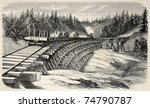 Old Illustration Of A Trestle...
