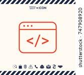 code editor icon | Shutterstock .eps vector #747908920