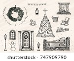 vector illustration. set of... | Shutterstock .eps vector #747909790