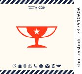 awards champions cup icon with... | Shutterstock .eps vector #747910606