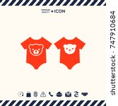 baby rompers icon   Shutterstock .eps vector #747910684