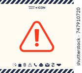 attention icon | Shutterstock .eps vector #747910720