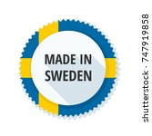 made in sweden label... | Shutterstock .eps vector #747919858