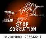 stop corruption  anti...   Shutterstock .eps vector #747922048