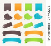 collection web elements and... | Shutterstock .eps vector #74792278