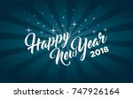 happy new year greeting card | Shutterstock .eps vector #747926164
