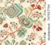 colorful decorative pattern...   Shutterstock .eps vector #747927754