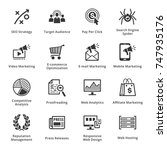 seo   internet marketing icons... | Shutterstock .eps vector #747935176