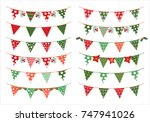 christmas vector triangle... | Shutterstock .eps vector #747941026