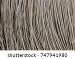 natural straw texture background | Shutterstock . vector #747941980