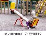 little cute caucasian girl in... | Shutterstock . vector #747945550