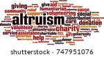 altruism word cloud concept.... | Shutterstock .eps vector #747951076