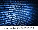 hacker breaching net security....   Shutterstock . vector #747951514