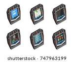 isometric isolated car... | Shutterstock .eps vector #747963199