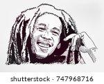 bob marley sketch vector...