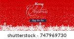 merry christmas and happy new... | Shutterstock .eps vector #747969730