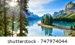 panorama view beautiful spirit... | Shutterstock . vector #747974044