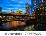 colorful shot of chicago city... | Shutterstock . vector #747974200