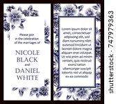 vintage delicate invitation... | Shutterstock .eps vector #747979363