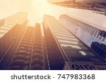 vintage effect tone   modern... | Shutterstock . vector #747983368