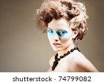 fashion portraite   woman - stock photo