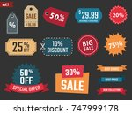 discount banners  offer price... | Shutterstock .eps vector #747999178