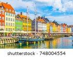 copenhagen  denmark  august 21  ... | Shutterstock . vector #748004554