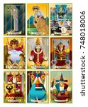 tarot major arcana cards | Shutterstock .eps vector #748018006