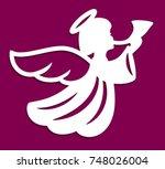 laser cutting template.... | Shutterstock .eps vector #748026004