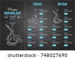 vector color menu design | Shutterstock .eps vector #748027690