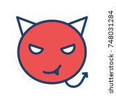 devil icon | Shutterstock .eps vector #748031284