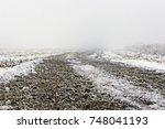 Fog On A Deserted Dirt Road ...