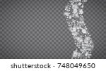 blizzard snowflakes on... | Shutterstock .eps vector #748049650