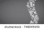 blizzard snowflakes on... | Shutterstock .eps vector #748049650