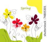 greeting card   Shutterstock .eps vector #74805301